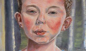 closeup of owen, by Canadian portrait painter Stephen James Kerr