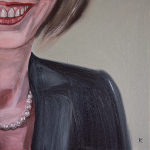 oil painting of a Banker smiling