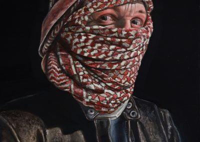 Self Portrait - Man in a Red Turban, After Van Eyck