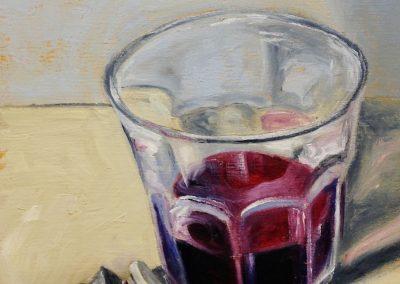 Wine Glass with Alizaran Crimsom